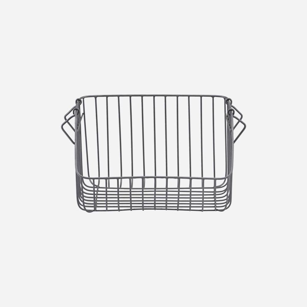 casier pour rangement cuisine ou bureau en metal gris 32 cm house doctor