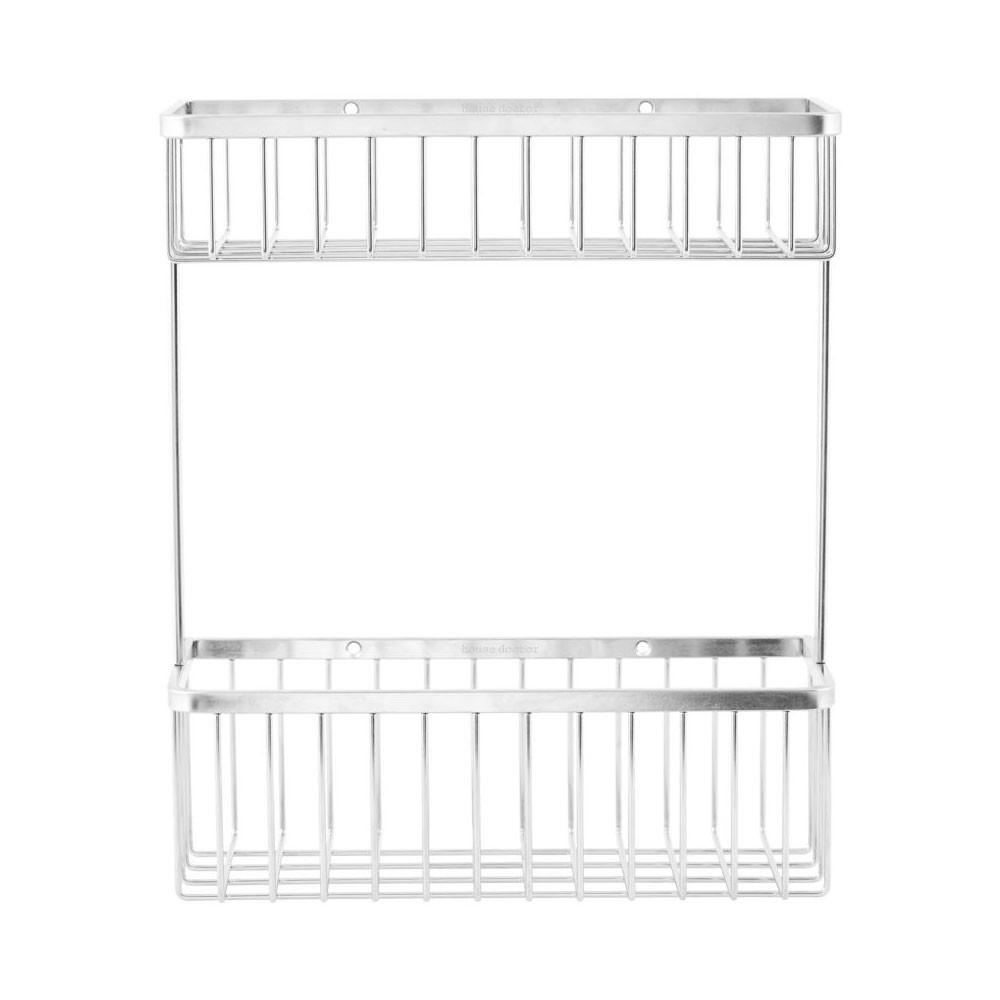 etagere 2 casiers acier inoxydable pour la salle de bains