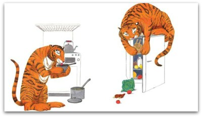 The Tiger Who Came to Tea by Judith Kerr - inside 1