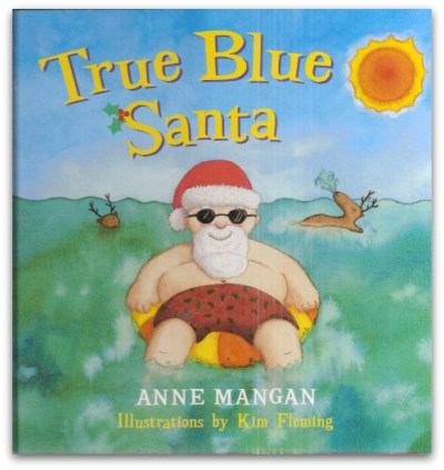 True Blue Santa by Anne Mangan