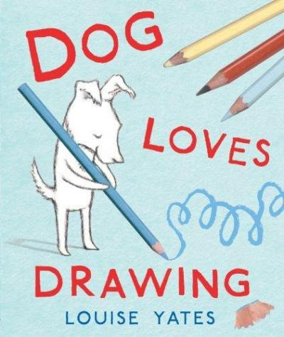 dog-loves-drawing