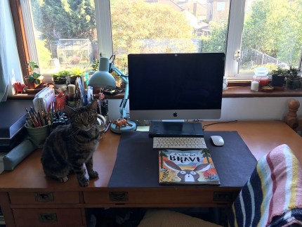 Desk with Tilly
