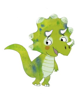 Green Triceratops