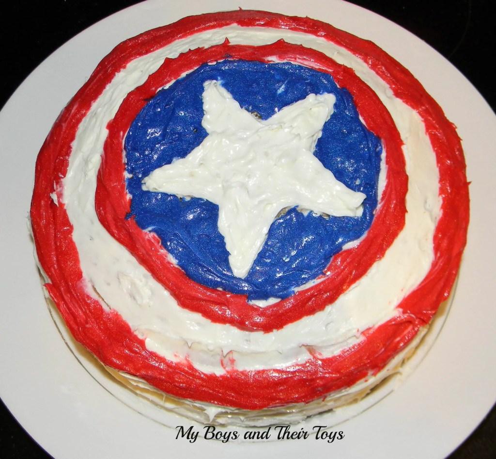 Avengers Captain America Shield Cake