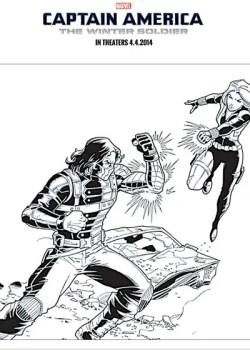 Cap America Battle Printable pic
