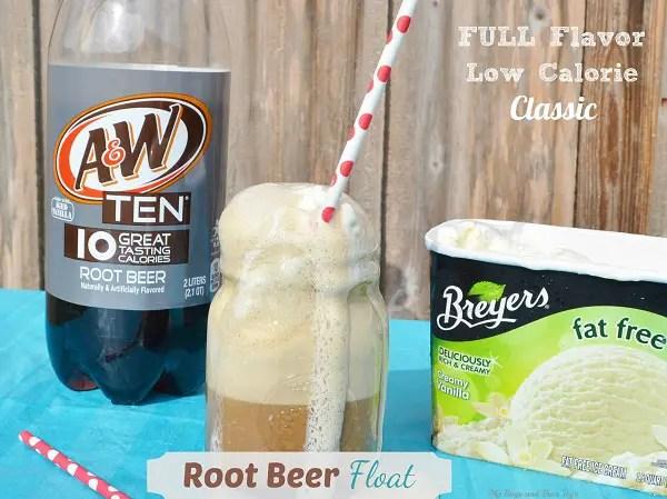 low calorie root beer float