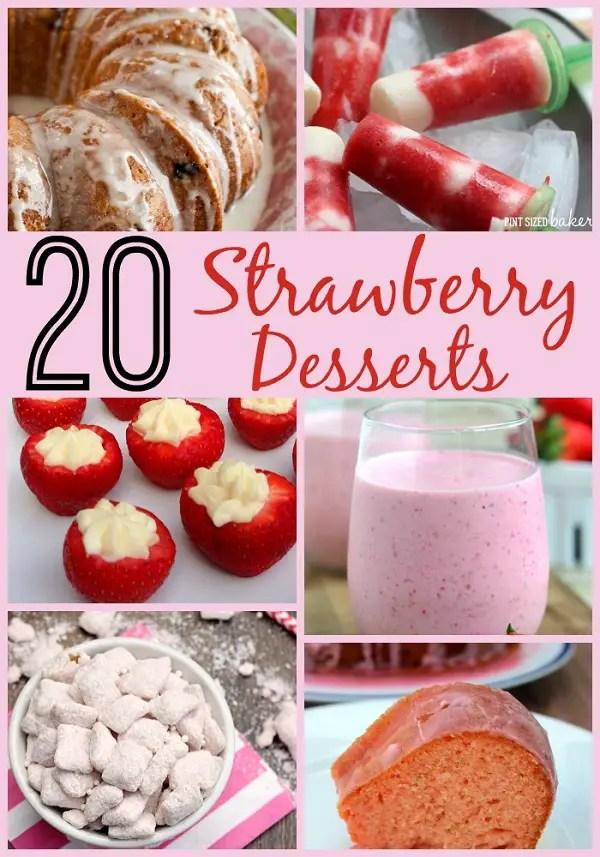 20 Strawberry Desserts