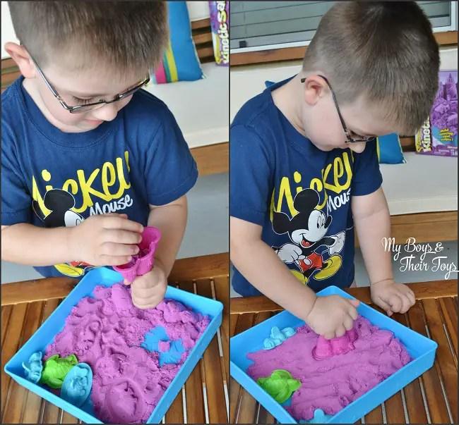 Kinetic sand play