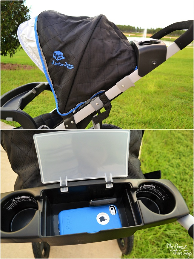 J is for Jeep jogging stroller