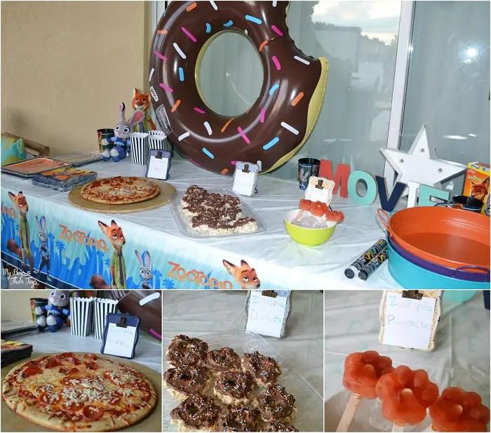 zootopia party food