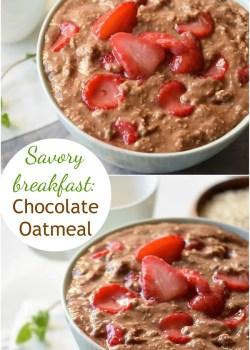 savory breakfast chocolate oatmeal