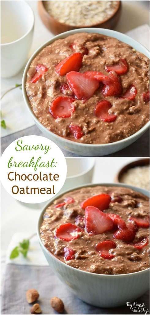 savory breakfast chocolate oatmeal