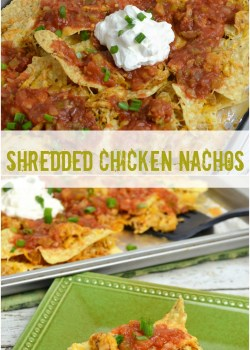 shredded chicken nachos pin