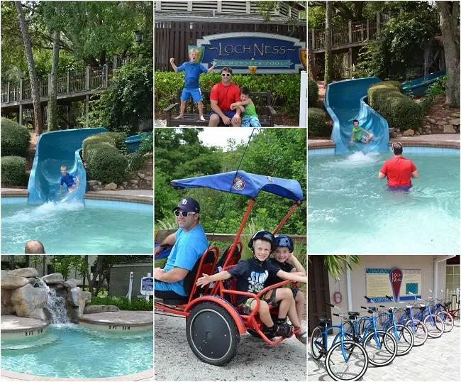 Lochness pool & bikes