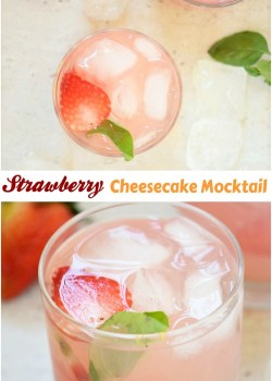 Strawberry Cheesecake Mocktail Recipe