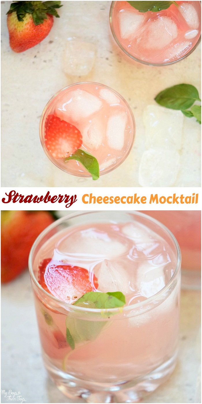 strawberry cheesecake mocktail pin