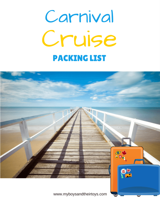 carnival cruise packing list
