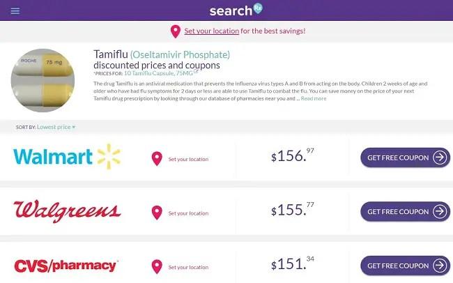 Discount coupons for tamiflu