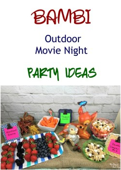 Outdoor Movie Night – BAMBI Party Ideas