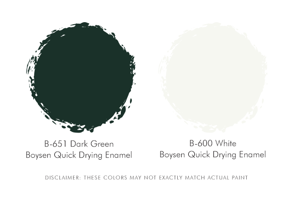 Boysen Palette Green and White
