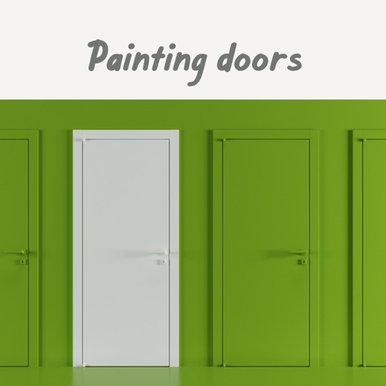 Boysen Tutorials: How to Paint Your Condo | Painting doors