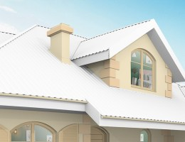 White painted roof