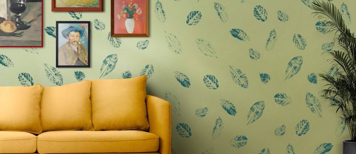 How to Print Leaves on Your Accent Wall   MyBoysen