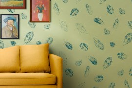How to Print Leaves on Your Accent Wall | MyBoysen