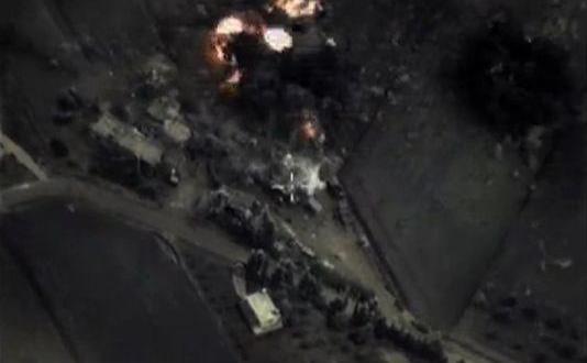 The Russian aviation initiate fire in Syria