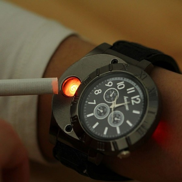 Sports Quartz Bracelet Watch with USB rechargeable
