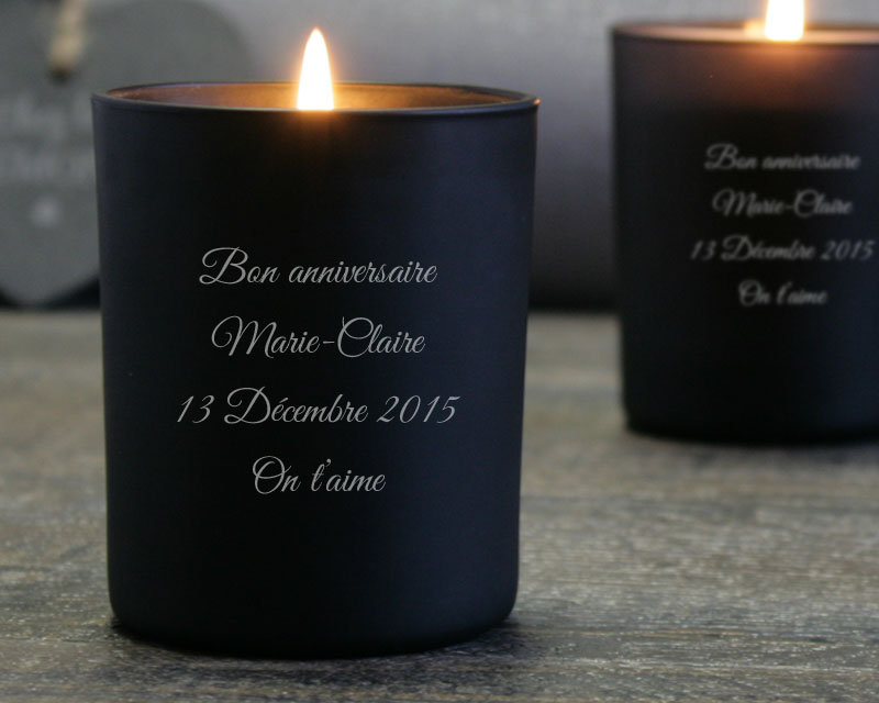 Candle engrave message