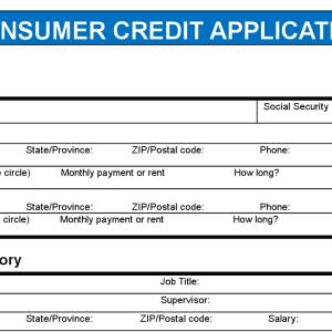 consumer credit application