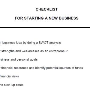 new business checklist