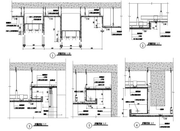 別墅節點設計、客廳設計、主臥室、廁所、衛浴、主牆面設計、天花板剖面、電視牆、餐廳櫃、石材柱剖面大樣、室內設計各類施工大樣、裝潢空間設計大樣、石材牆面介面接口、混凝土與其他材質介面 (以圖例為準)