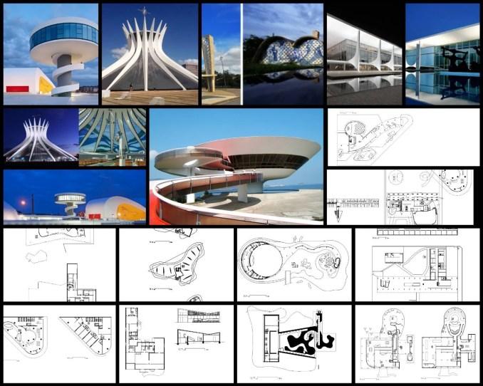 【世界知名建築案例研究CAD設計施工圖】奧斯卡·尼邁耶 Oscar Niemeyer-建築作品