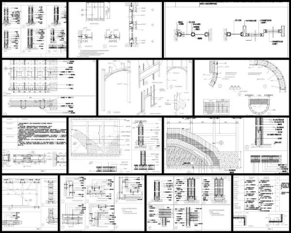 【各類CAD Details細部大樣圖庫】隔牆類細部大樣CAD大樣圖