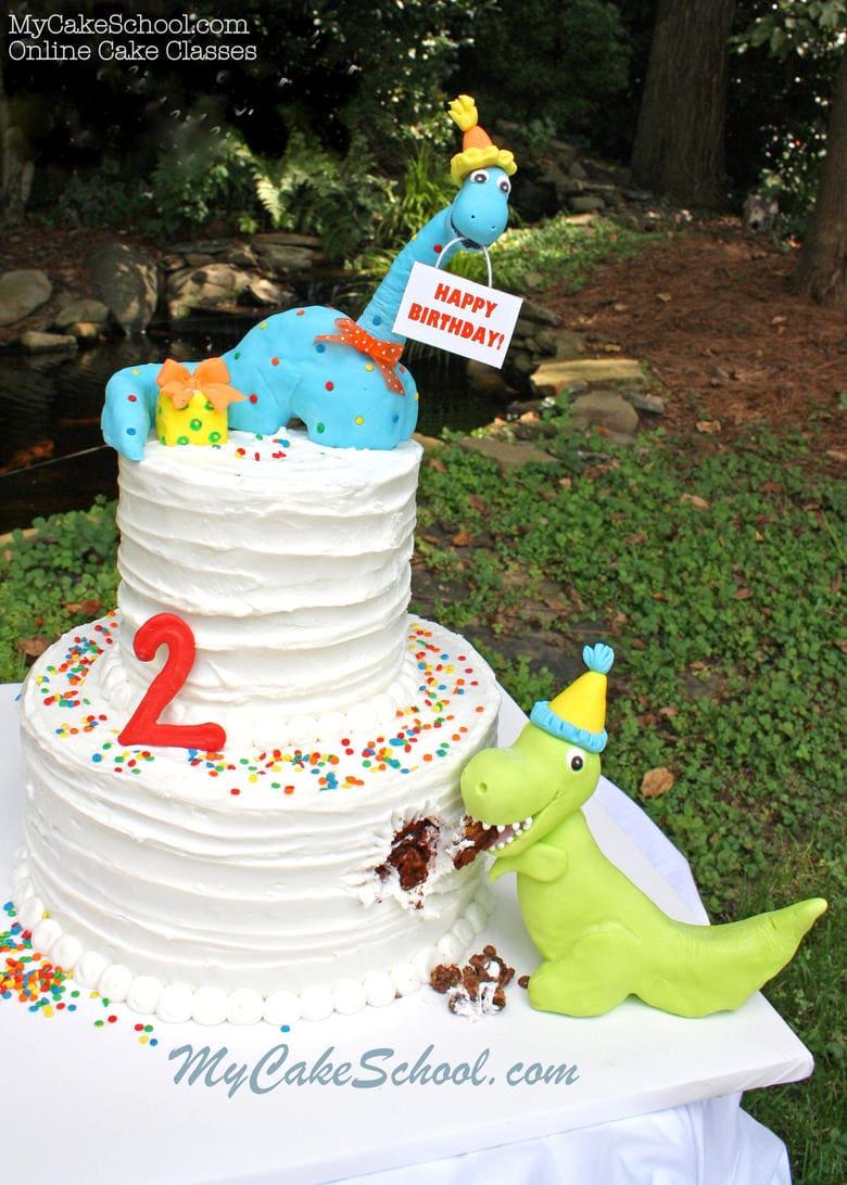 Dinosaur Cake Toppers And Dinosaur Cake Video Tutorial