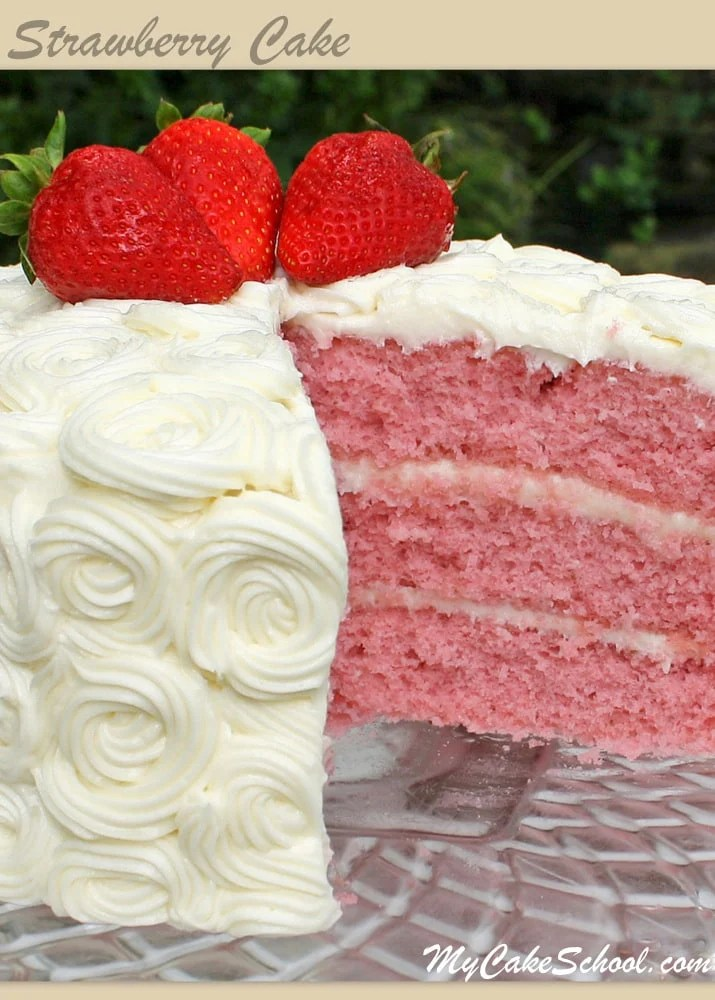 Strawberry Cake Version 2 A Scratch Recipe My Cake
