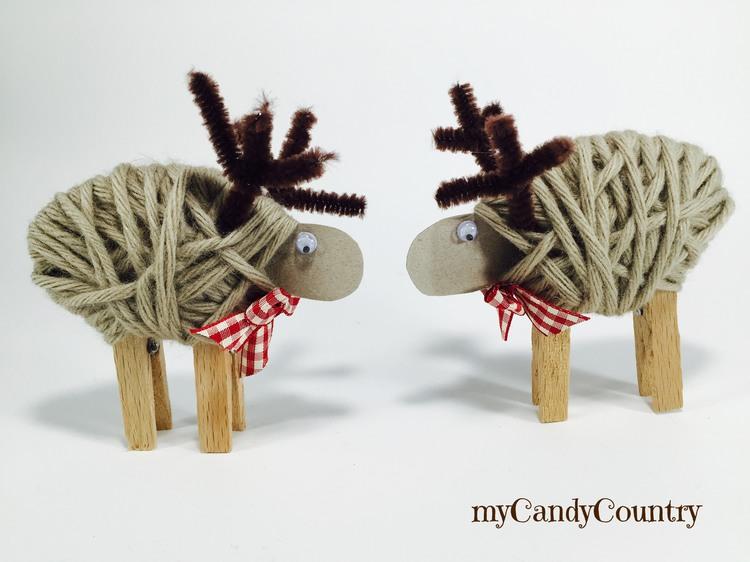Renne Di Natale Fai Da Te Con Le Mollette Da Bucato