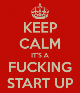 Keep Calm It's a Fucking Start Up