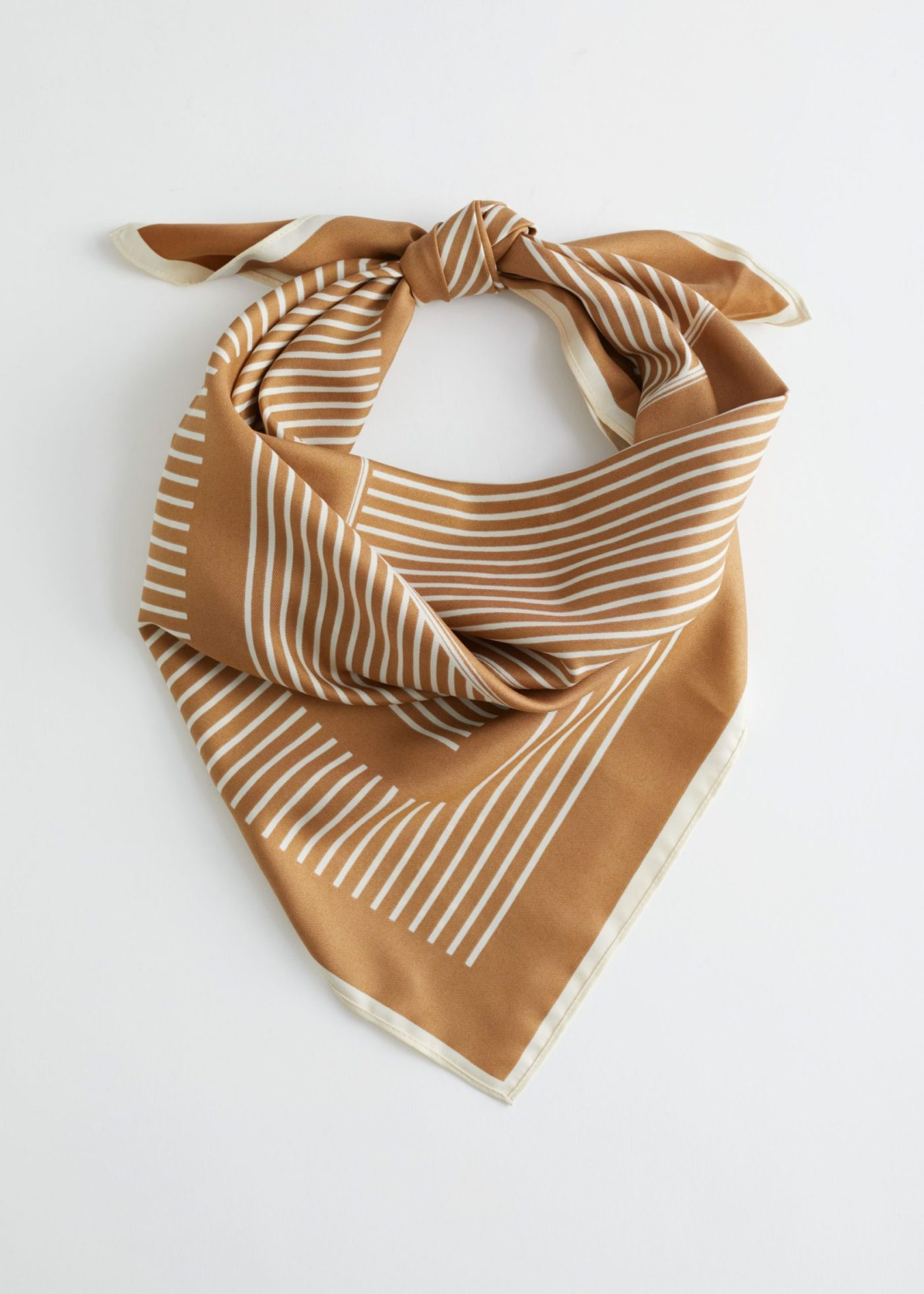 & Other Stories Striped Twill Scarf