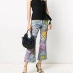 Versace Medusa Amplified print flared cropped jeans