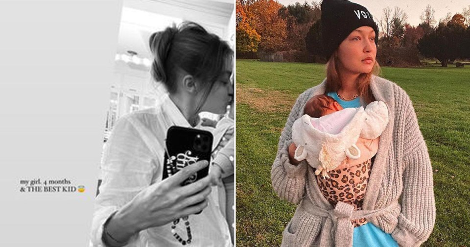 My Celebrity Life – Gigi Hadids little one is four months old already Picture Instagramgigihadid
