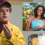 My Celebrity Life – Gaten learns about different kinds of mushrooms Picture Netflix