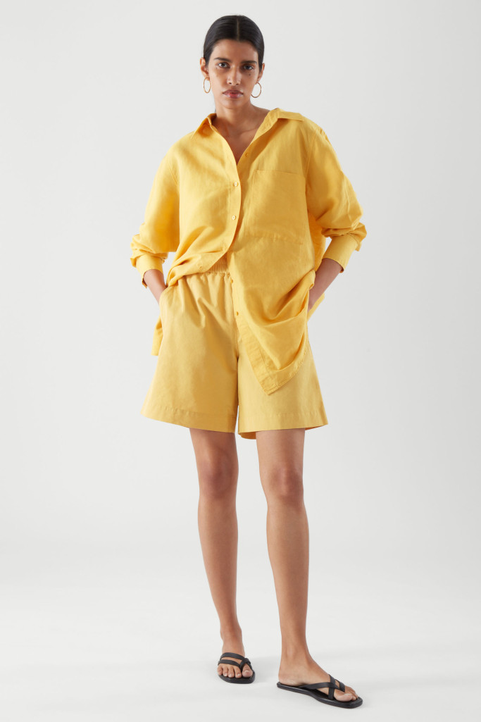 Relaxed fit yellow linen from Cos