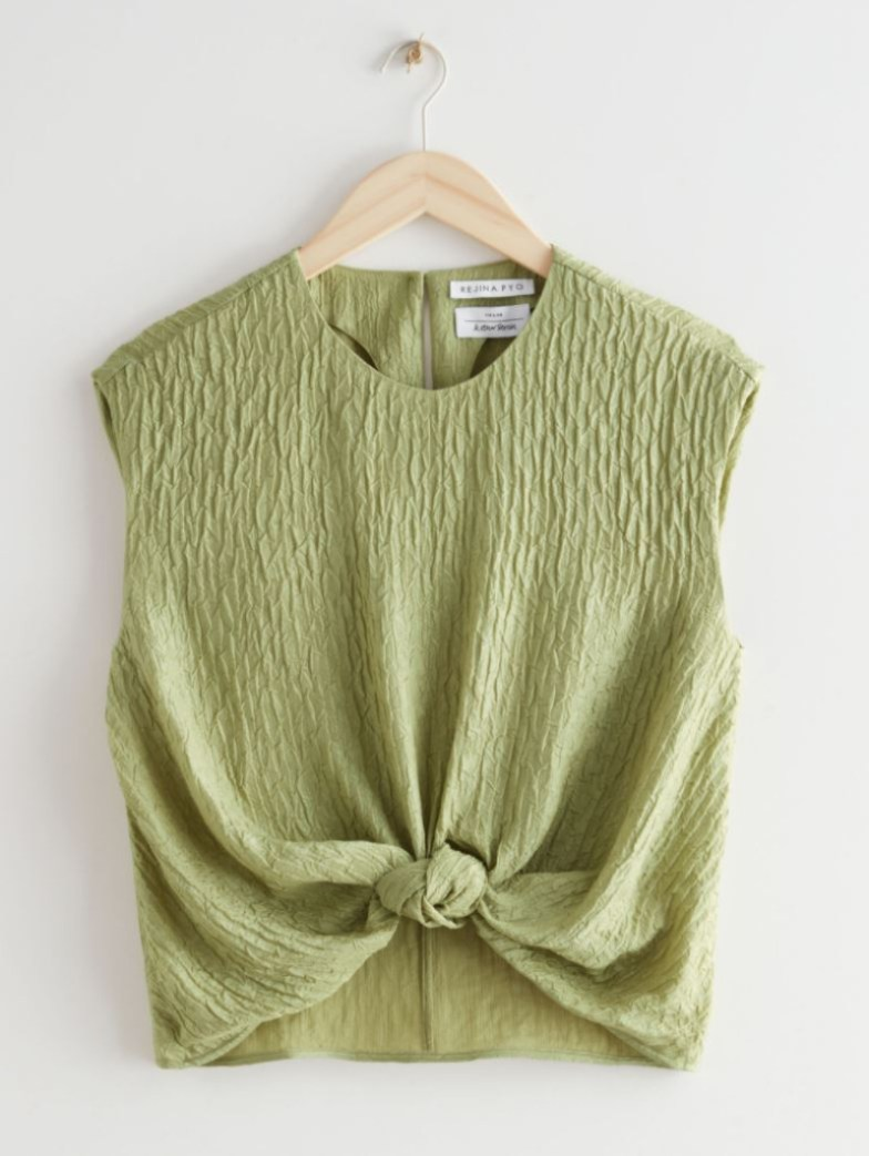 rejina pyo silk top for other stories