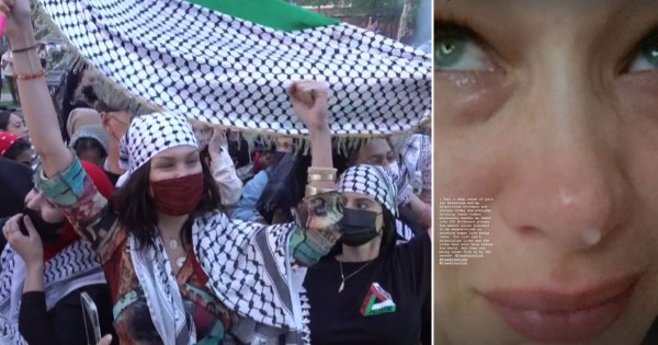 Bella Hadid cries for Palestine as she joins protests in New York amid Israel-Hamas violence: 'I feel a deep sense of pain'