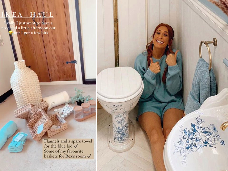 Stacey Solomon shows off interiors haul