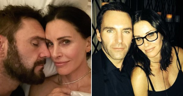 Friends star Courteney Cox celebrates eight year anniversary with Snow Patrol's Johnny McDaid and they're the cutest