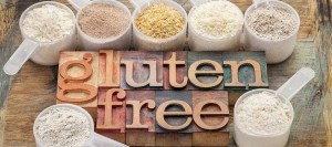 gluten free flours and typography